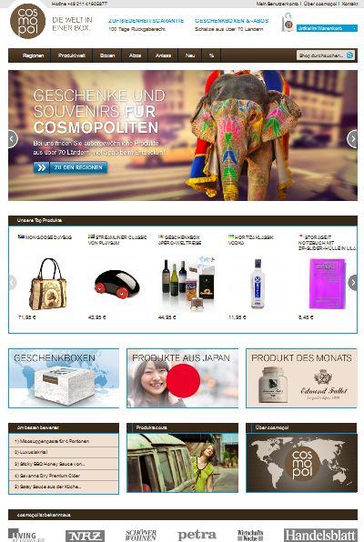 Die cosmopol Shop Startseite