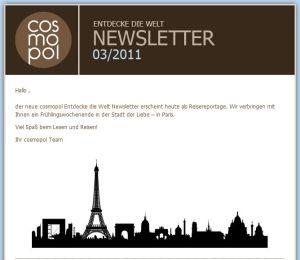 Paris, Geschenke, Newsletter